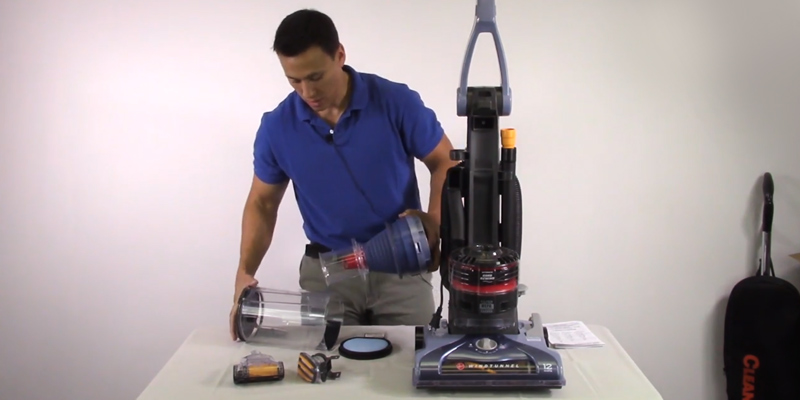 Hoover UH70210 WindTunnel Pet Rewind Bagless Upright Vacuum in the use