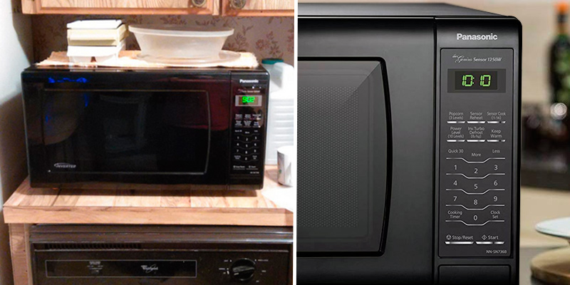 Panasonic NN-SN736B Countertop Microwave Oven with Inverter Technology in the use
