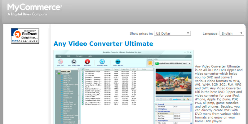 Review of AVC Any Video Converter Ultimate