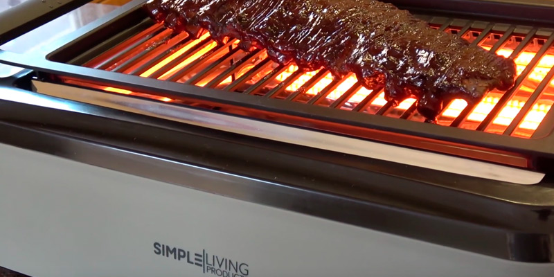 Simple Living Products SLP-SG-001 Indoor BBQ Grill in the use