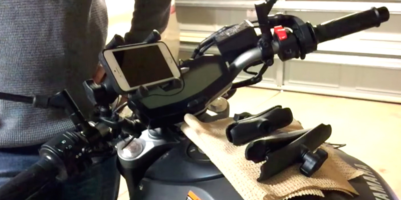 Review of RAM RAM-B-149Z-UN7U Handlebar Mount with U-Bolt Base and Universal X-Grip Cell Phone Holder