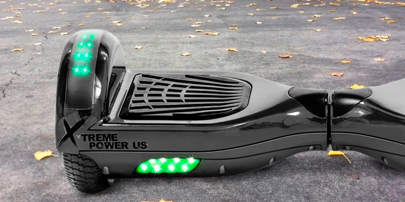 XtremepowerUS Bluetooth Speaker and LED Light Self Balancing Scooter in the use