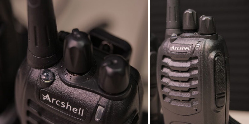 Arcshell Two-Way Radios with Earpiece 4 Pack UHF 400-470Mhz Walkie Talkies in the use