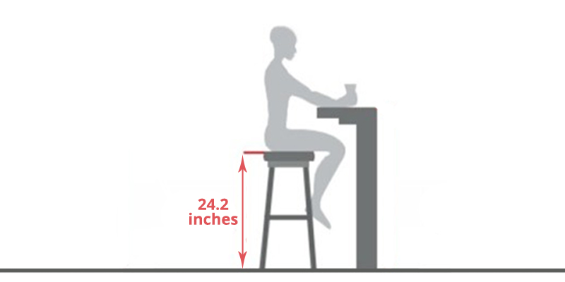 Winsome Square Leg Counter Stool application