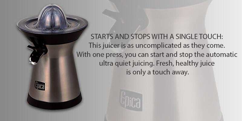 Detailed review of Epica Powerful Whisper-quiet Citrus Juicer