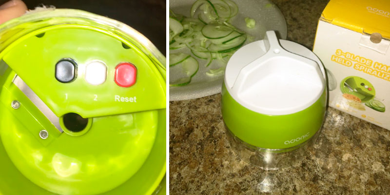 Review of Adoric 3 in 1 Handheld Spiralizer Vegetable Slicer Zoodle Spaghetti Maker