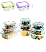 Bayco 18 Pieces Glass Storage Containers with Lids
