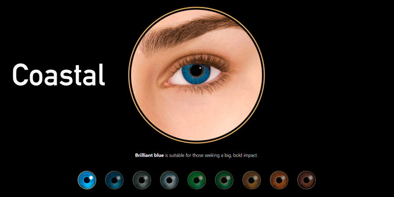 Coastal Colored Contact Lenses in the use