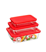 Pyrex 6-Piece Simply Store Glass Rectangular Food Container Set