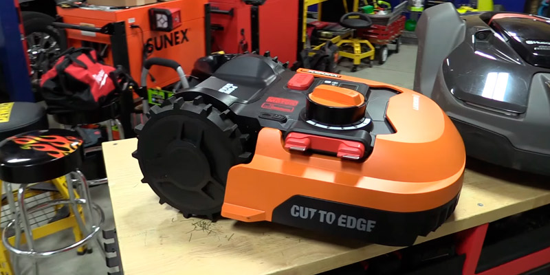 WORX WR140 Landroid M 20V Robotic Lawn Mower in the use