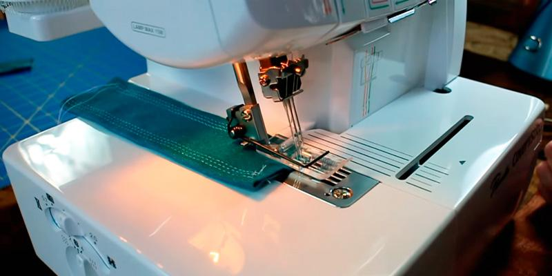 Brother 2340CV Cover Stitch Overlock Machine in the use