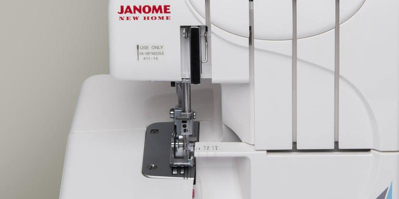 Janome 3-4 Thread MOD-Serger with Lay-In Threading in the use