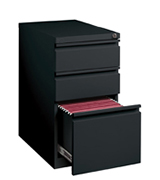 Hirsh Industries 18575 3 Drawer Mobile File Cabinet File