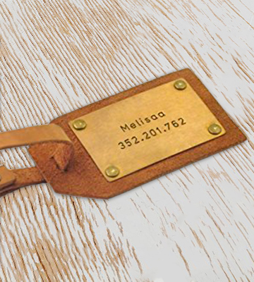 Review of weddinghanger2015 Engraved on 2 sides Personalized Leather Luggage Tag