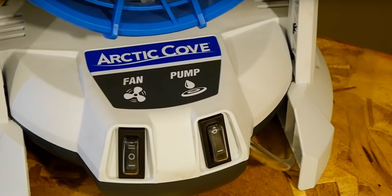 Arctic Cove MBF0181 Bucket Top Misting Fan (18-Volt Battery Powered) in the use
