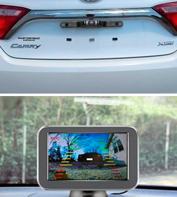 Review of eRapta E5 Wireless Backup Camera with Monitor System 5'' LCD