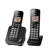 Panasonic KX-TGC352B Expandable Cordless Phone with Amber Backlit Display