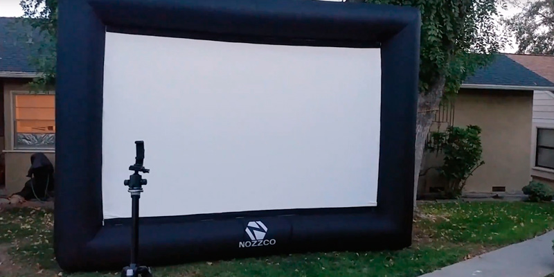 Review of Z N NOZZCO Outdoor Inflatable Movie Screen