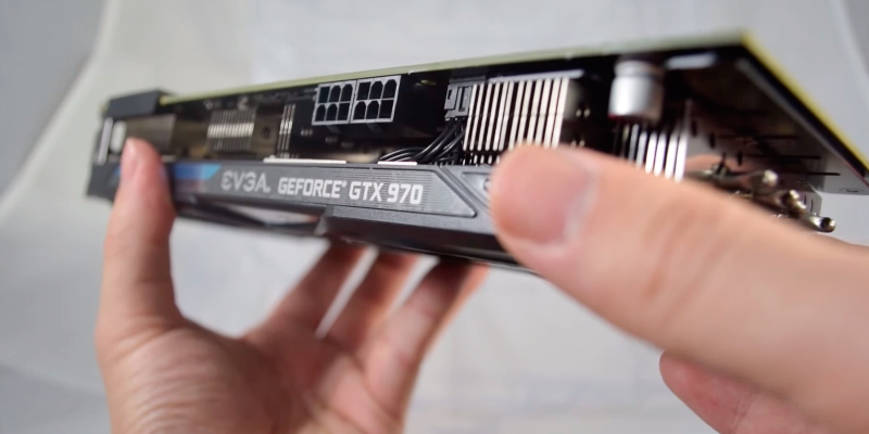 EVGA GeForce GTX 970 SC GAMING ACX 2.0, Graphics Card 4GB in the use