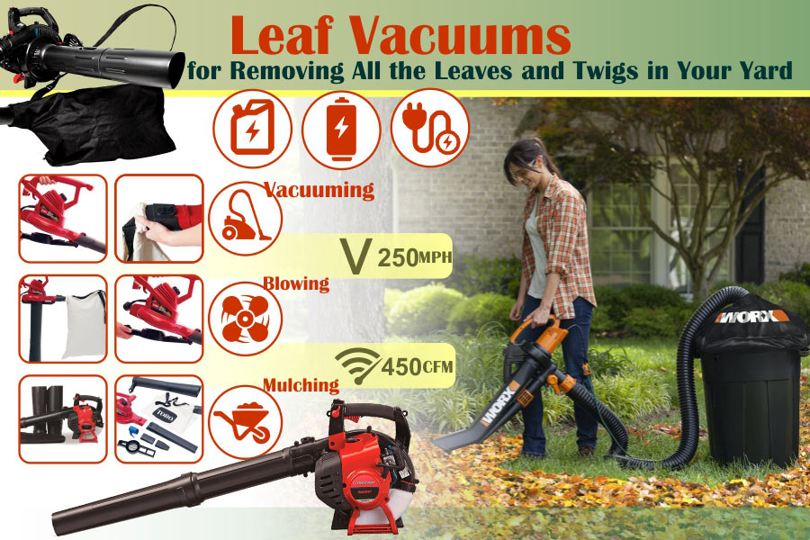 Comparison of Leaf Vacuums to Clean Your Yard in Minutes
