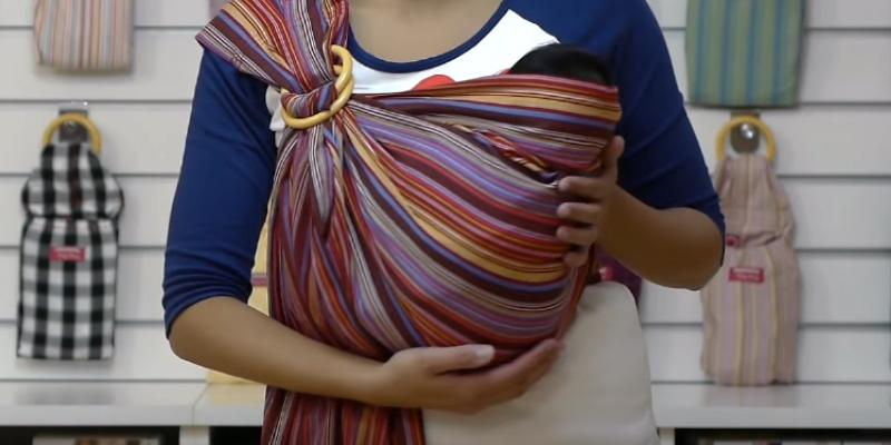 Review of Mamaway Rainbow Crayon Ring Sling Baby Wrap