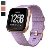 Fitbit Versa (811138030018) Special Edition Smartwatch, Lavender Woven