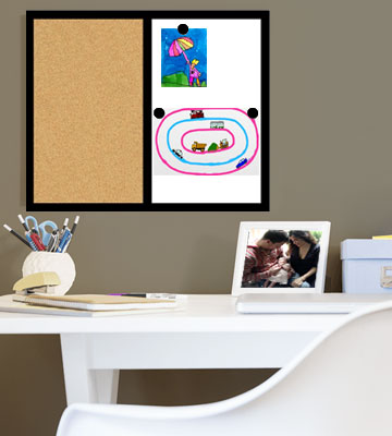 Review of The Board Dudes Magnetic Dry Erase / Cork Combo Board
