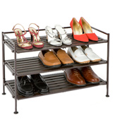 Seville Classics SHE15893 3-Tier Resin Slat Utility Shoe Rack