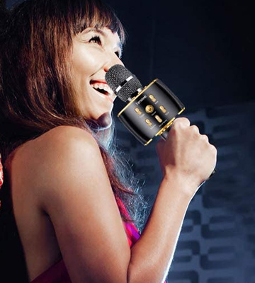 Review of hmovie Portable Handheld Wireless Bluetooth Karaoke Microphone
