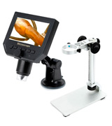 Koolertron 4331891380 4.3 LCD Digital USB Microscope with Adjustable Stand 1-600X Continuous Magnification Zoom