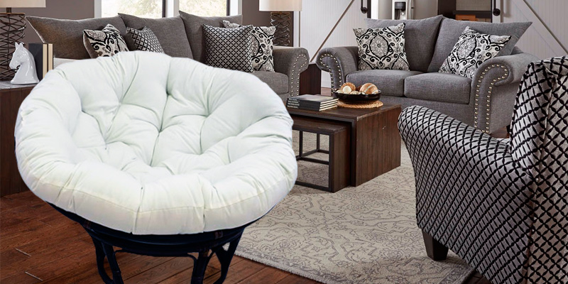 Review of International Caravan 3312-TW-EGG-IC Rattan Papasan Chair with Solid Twill Cushion