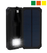 QueenAcc Portable Solar Charger with LED Lights