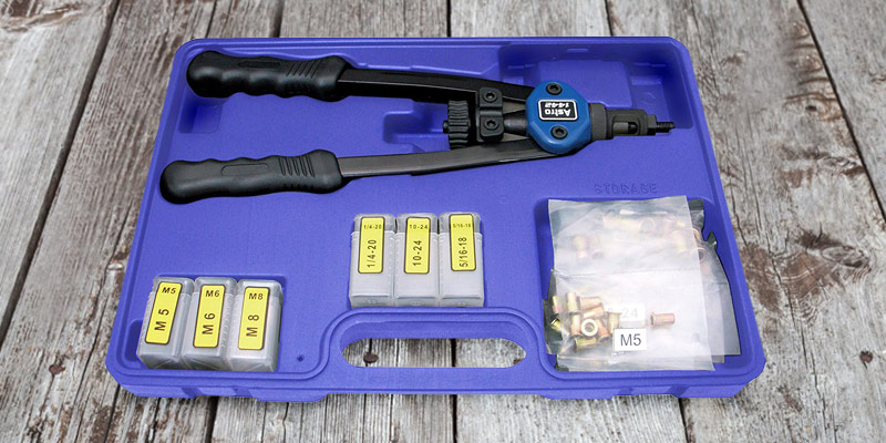 Astro Pneumatic Tool Hand Riveter Kit (1442) Metric & SAE application