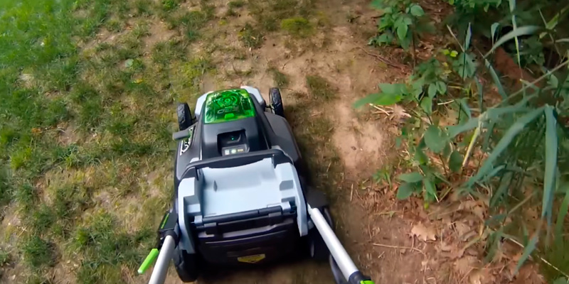 EGO Power+ Cordless Lawn Mower in the use