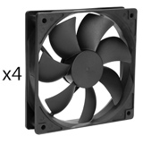 Rosewill ROCF-13001 Long Life Sleeve Bearing Computer Case Fan (4-Pack)