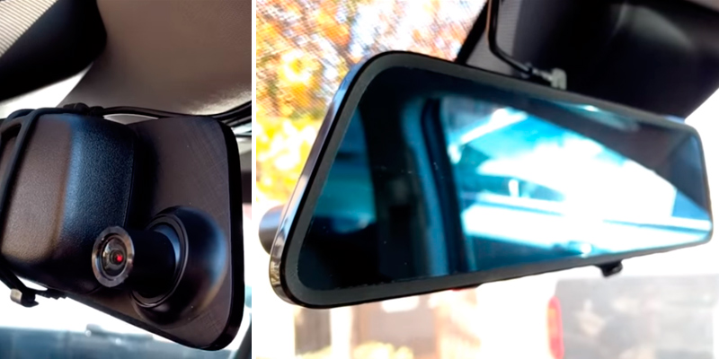 Review of AUTO-VOX DVR-M8 Touch Screen Mirror Dash Cam (Front 1296p & Rear View)