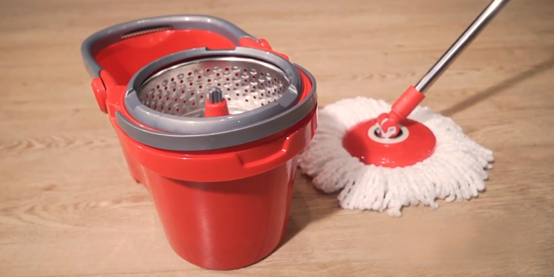 Review of Hapinnex SM-03-RD Spin Wringer Mop Bucket Set