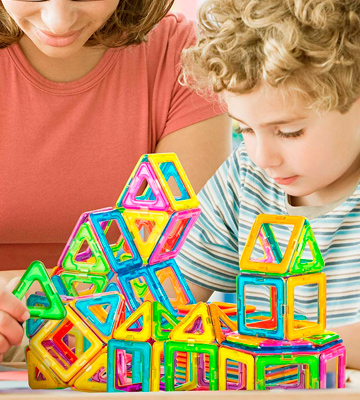 Review of PerkyPack __Magnetic Blocks 95 Pcs, Magnetic Tiles Building Blocks Set