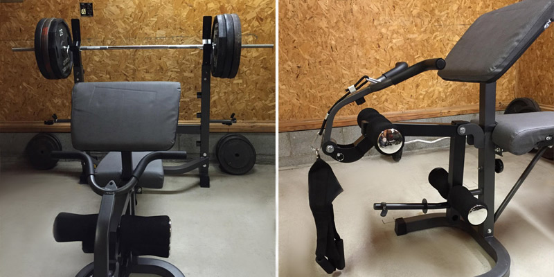 Body Champ BCB5860 Olympic Weight Bench in the use