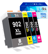 LxTek 902XL Replacement Ink Cartridge for HP Printers