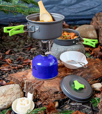 Review of MalloMe 10 Piece Cookset 1 Liter Camping Cookware Mess Kit