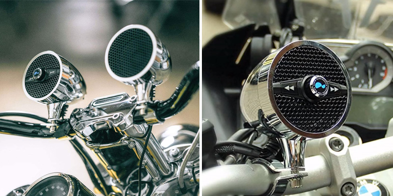 Review of LEXIN Motorcycle Bluetooth Speakers with FM Radio Antenna