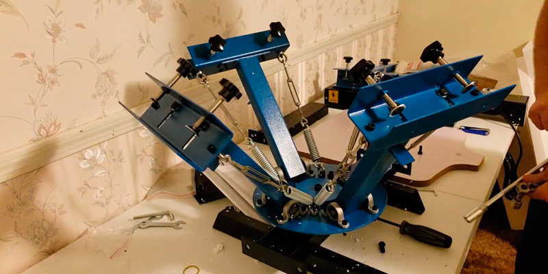 "Review of SHZOND 21.7"" x 17.7"" Screen Printing Press"