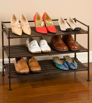 Review of Seville Classics SHE15893 3-Tier Resin Slat Utility Shoe Rack