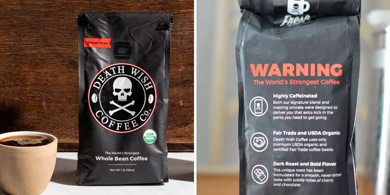 Review of Death Wish Coffee Co. Organic Whole Bean Coffee Dark Roast