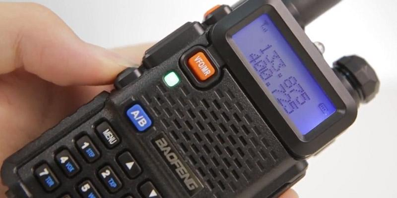 BaoFeng UV-5R Dual Band Two Way Radio in the use