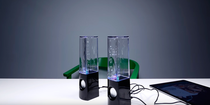 Review of Aolyty (H2OSpeakers_Black16) Colorful Water Speaker