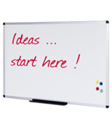 VIZ-PRO WB1290L Magnetic Dry Erase Whiteboard 48x36 Inches