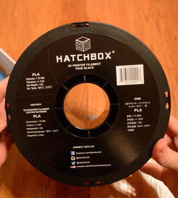Review of HATCHBOX PLA 3D 1.75mm Printer Filament