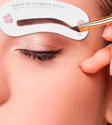 Review of Kalolary Eyebrow Shaping Stencils Eyebrow Grooming Stencil Kit Shaping Templates